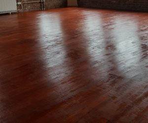 Floor Stain Project in a Manchester Apartment